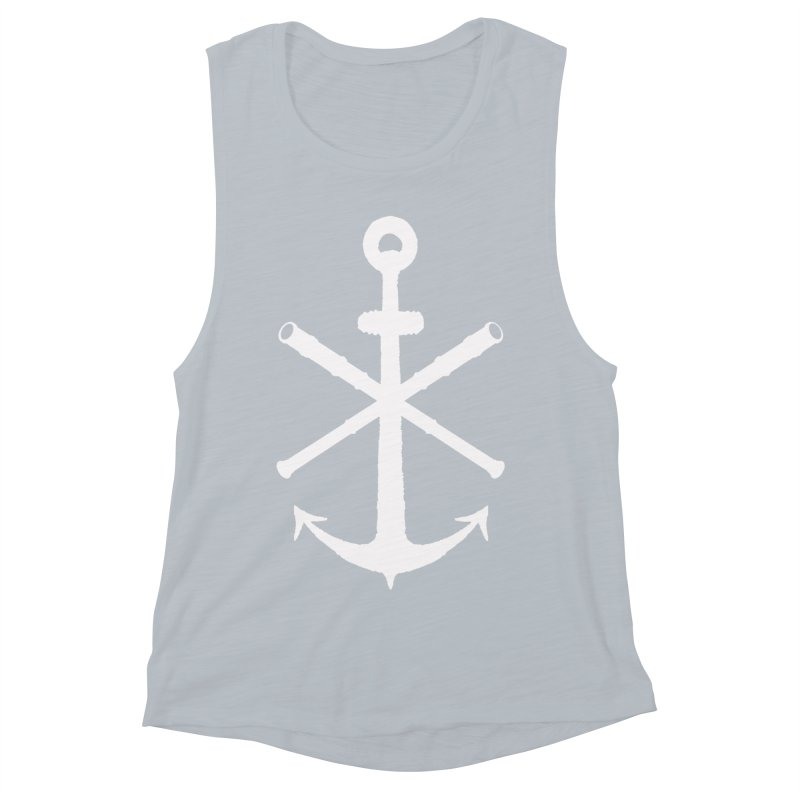 All Ways But Still Oversized Logo - White  Women's Muscle Tank by Sailor James