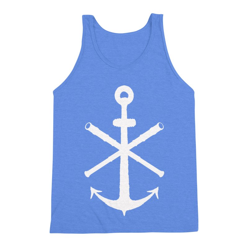 All Ways But Still Oversized Logo - White  Men's Triblend Tank by Sailor James