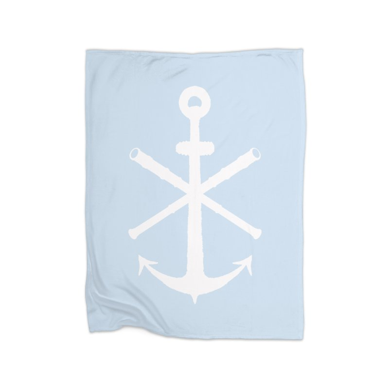 All Ways But Still Oversized Logo - White  Home Blanket by Sailor James