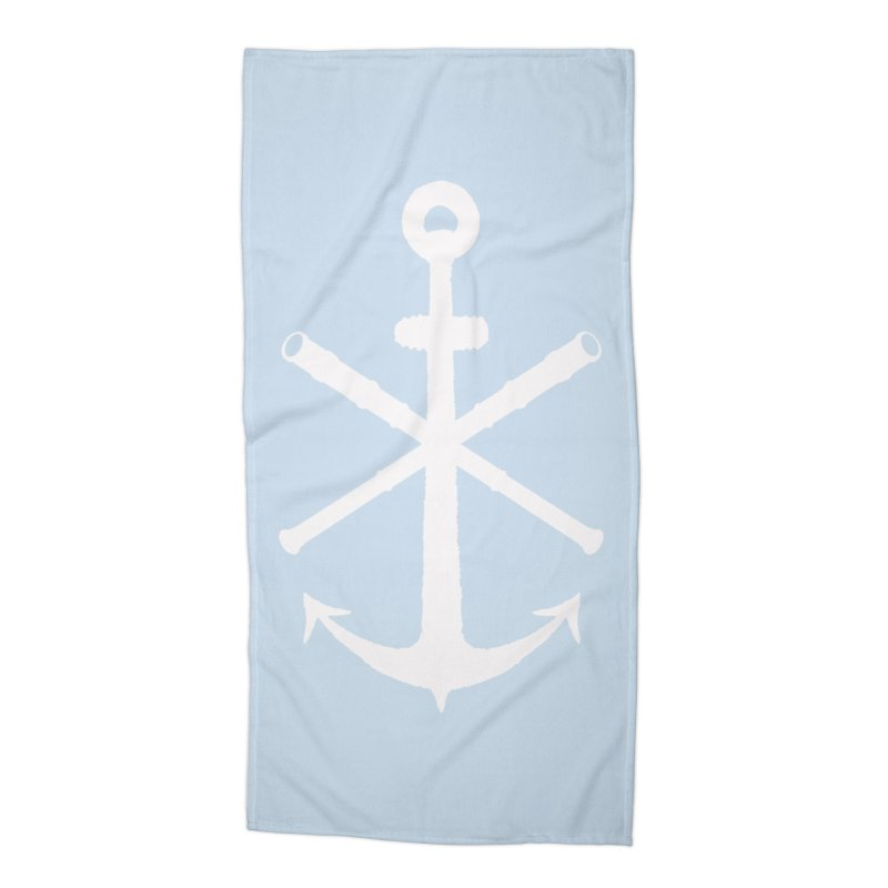All Ways But Still Oversized Logo - White  Accessories Beach Towel by Sailor James
