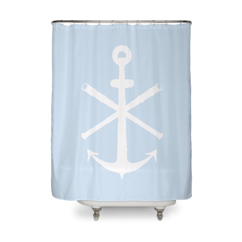 All Ways But Still Oversized Logo - White  Home Shower Curtain by Sailor James