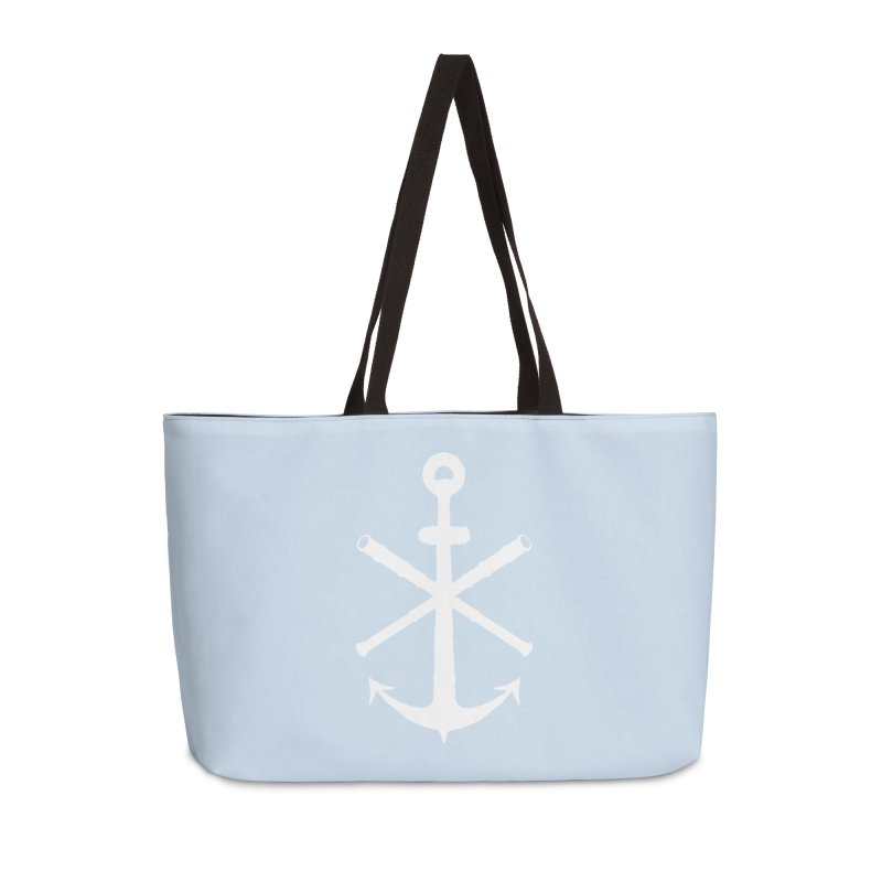 All Ways But Still Oversized Logo - White  Accessories Weekender Bag Bag by Sailor James
