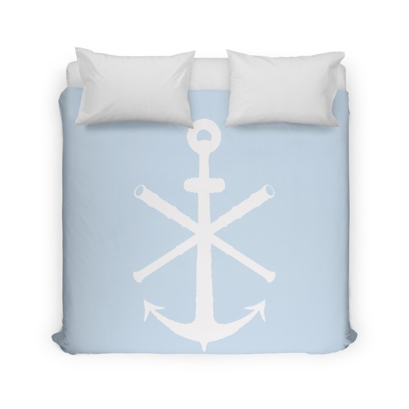 All Ways But Still Oversized Logo - White  Home Duvet by Sailor James