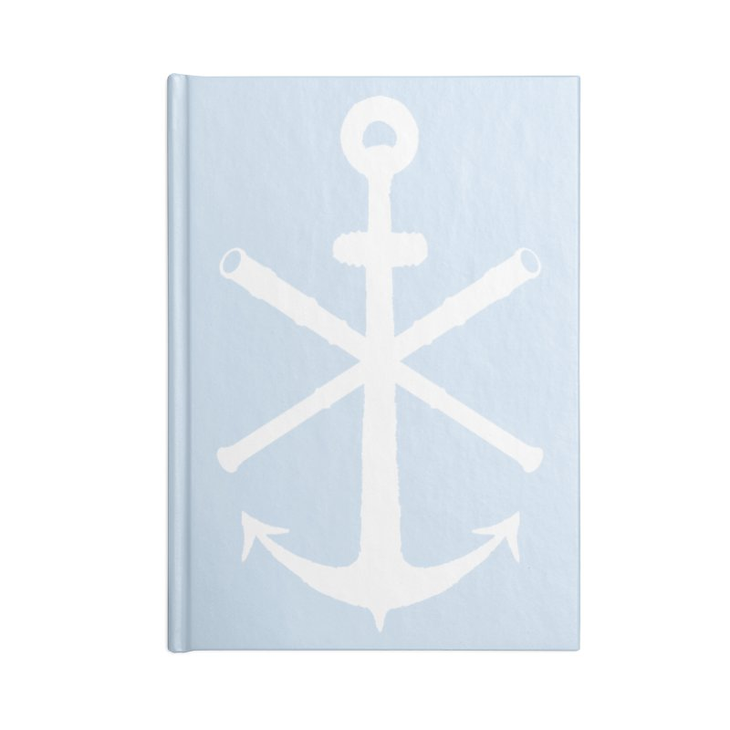 All Ways But Still Oversized Logo - White  Accessories Lined Journal Notebook by Sailor James