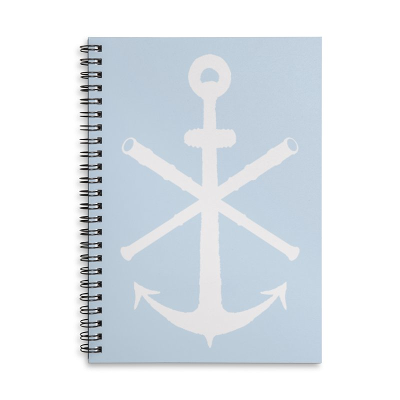 All Ways But Still Oversized Logo - White  Accessories Lined Spiral Notebook by Sailor James