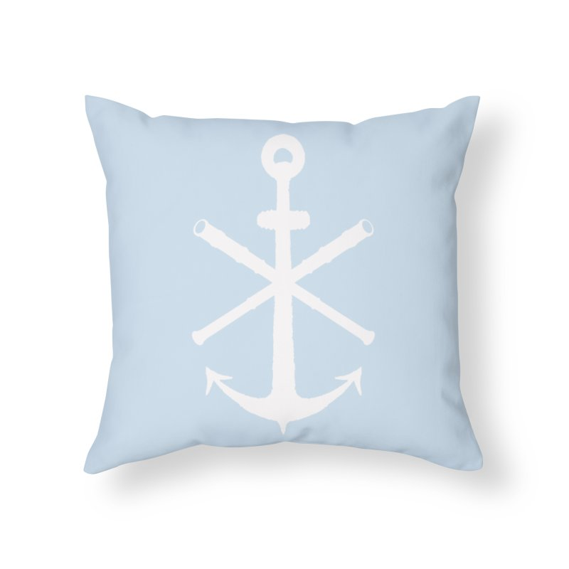 All Ways But Still Oversized Logo - White  Home Throw Pillow by Sailor James