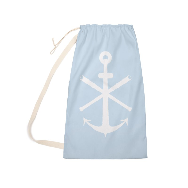 All Ways But Still Oversized Logo - White  Accessories Laundry Bag Bag by Sailor James