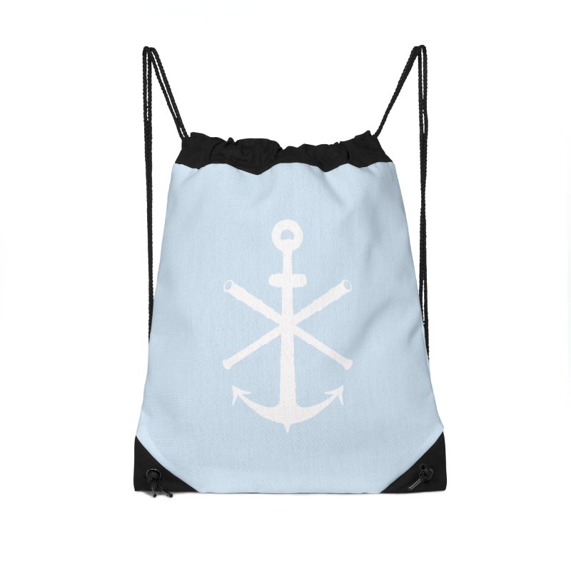 All Ways But Still Oversized Logo - White  Accessories Drawstring Bag Bag by Sailor James