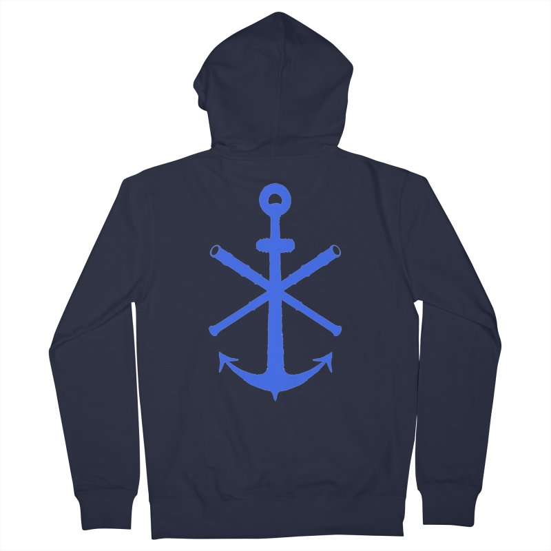 All Ways But Still Oversized Logo - Blue Women's Zip-Up Hoody by Sailor James