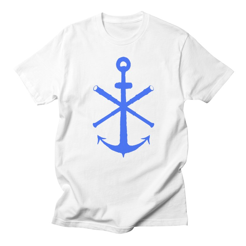 All Ways But Still Oversized Logo - Blue in Men's Regular T-Shirt White by Sailor James