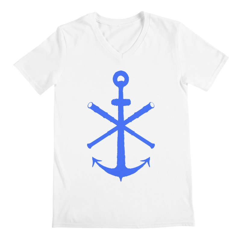 All Ways But Still Oversized Logo - Blue Men's V-Neck by Sailor James