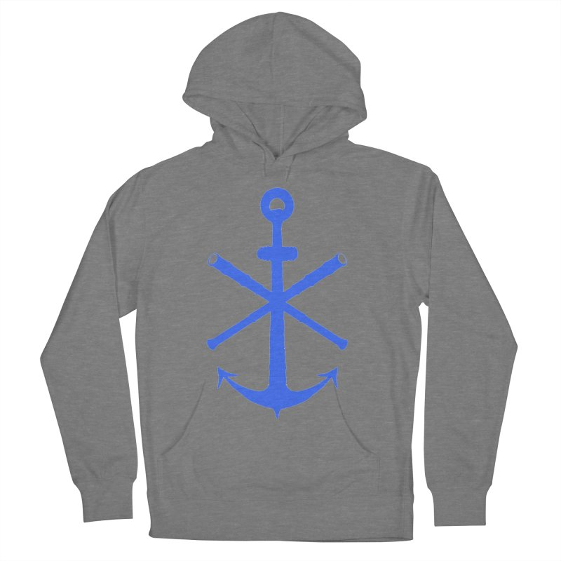 All Ways But Still Oversized Logo - Blue Women's French Terry Pullover Hoody by Sailor James