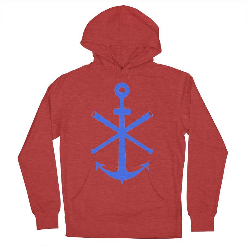 All Ways But Still Oversized Logo - Blue Men's French Terry Pullover Hoody by Sailor James
