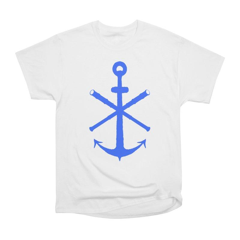 All Ways But Still Oversized Logo - Blue Women's Heavyweight Unisex T-Shirt by Sailor James