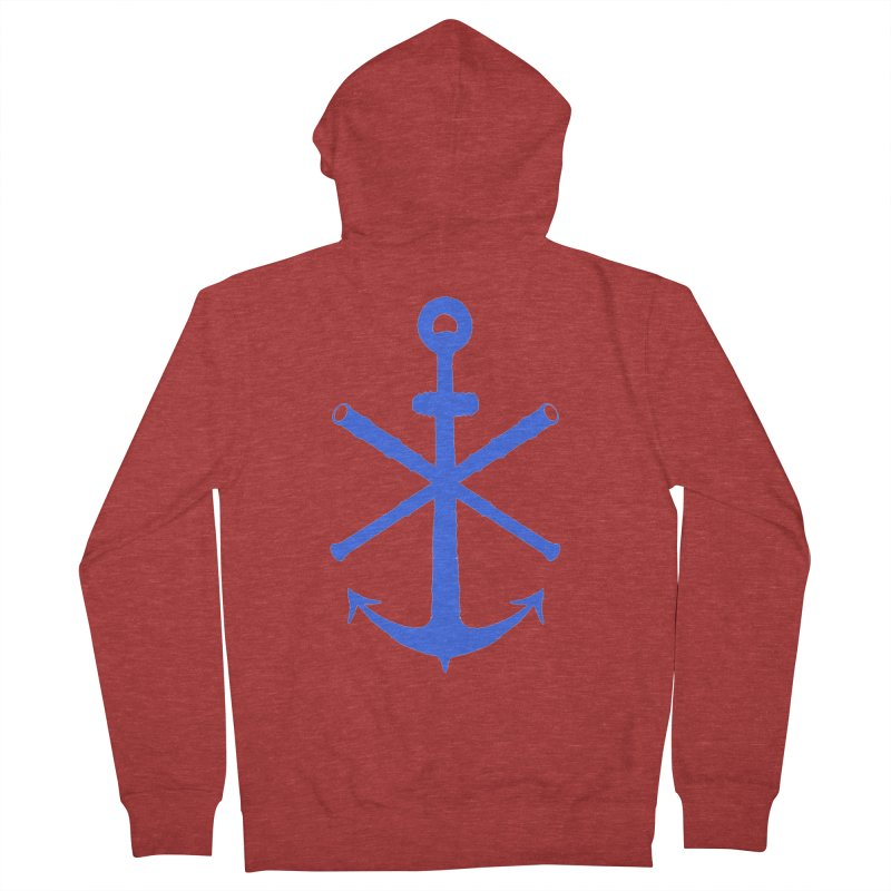 All Ways But Still Oversized Logo - Blue Men's French Terry Zip-Up Hoody by Sailor James