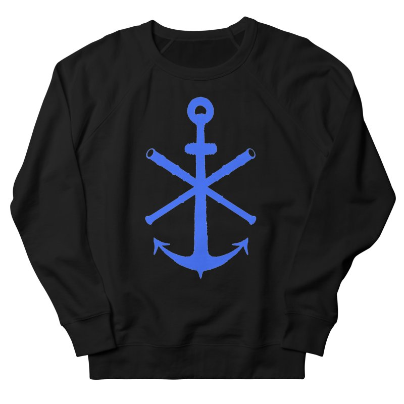 All Ways But Still Oversized Logo - Blue Women's French Terry Sweatshirt by Sailor James