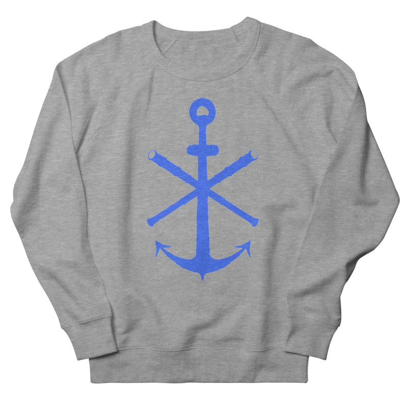 All Ways But Still Oversized Logo - Blue Men's French Terry Sweatshirt by Sailor James