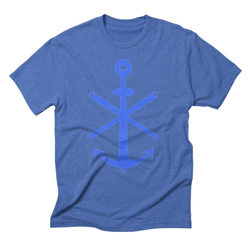 All Ways But Still Oversized Logo - Blue Men's Triblend T-Shirt by Sailor James