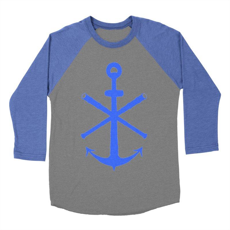 All Ways But Still Oversized Logo - Blue Men's Baseball Triblend Longsleeve T-Shirt by Sailor James