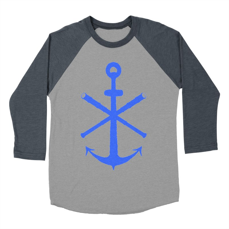 All Ways But Still Oversized Logo - Blue Men's Baseball Triblend Longsleeve T-Shirt by Sailor James