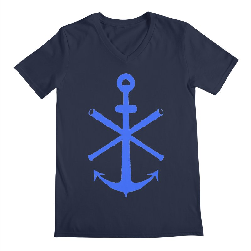 All Ways But Still Oversized Logo - Blue Men's Regular V-Neck by Sailor James