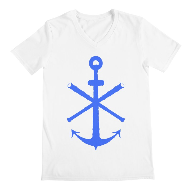 All Ways But Still Oversized Logo - Blue Men's Regular V-Neck by Sailor James