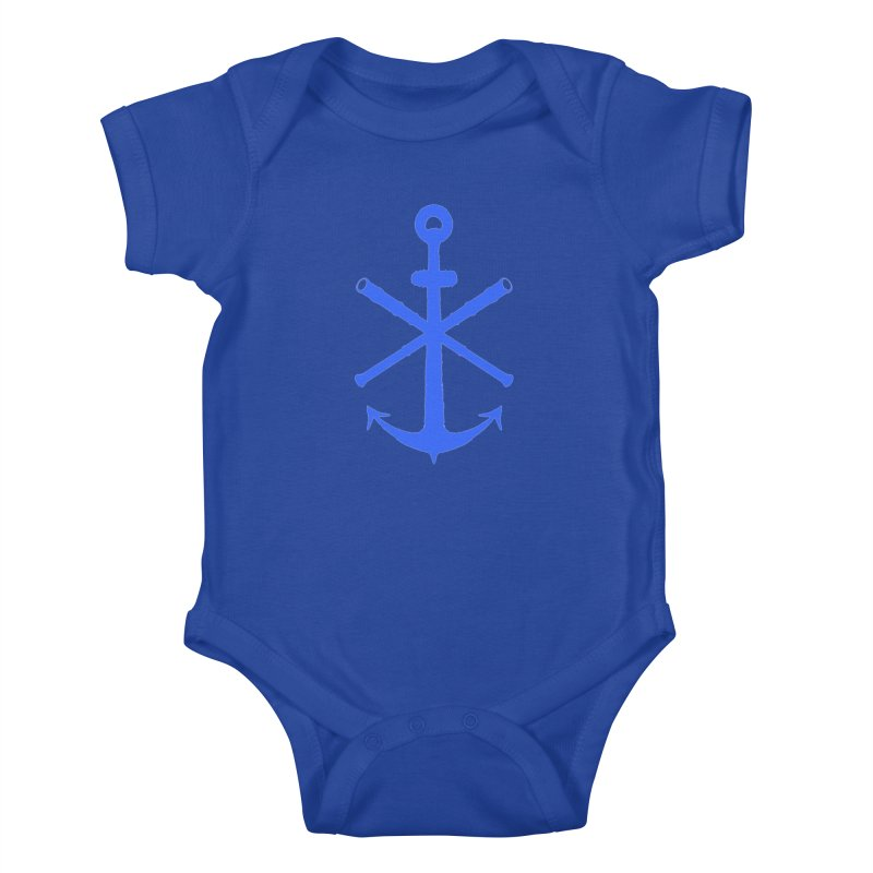 All Ways But Still Oversized Logo - Blue Kids Baby Bodysuit by Sailor James