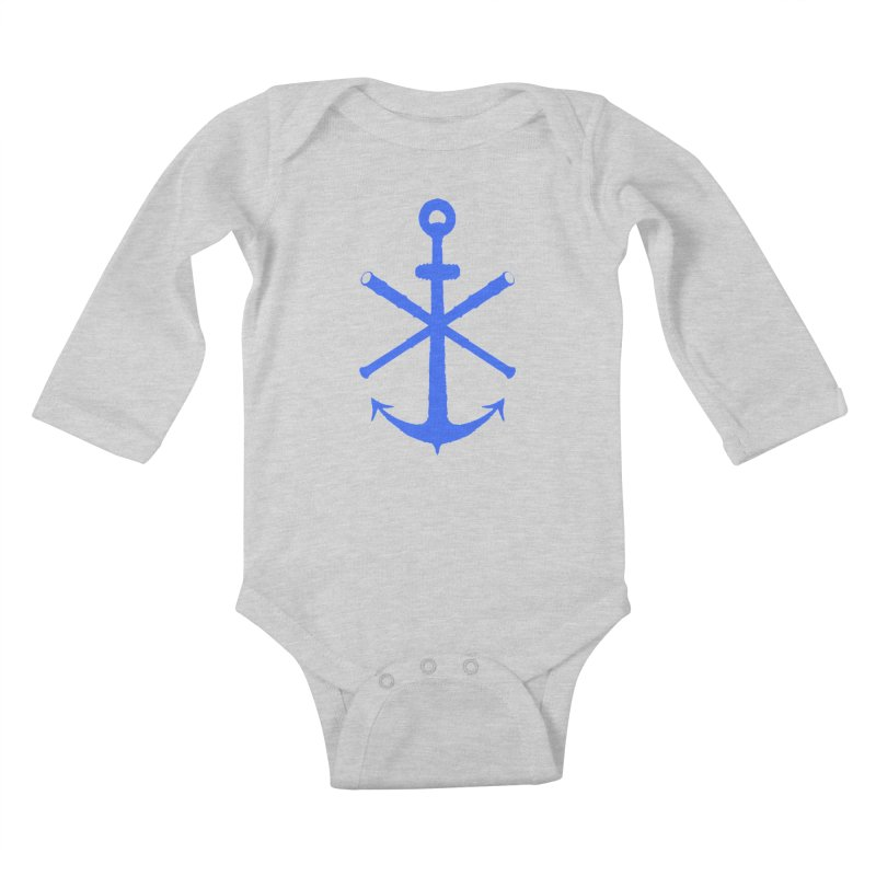 All Ways But Still Oversized Logo - Blue Kids Baby Longsleeve Bodysuit by Sailor James