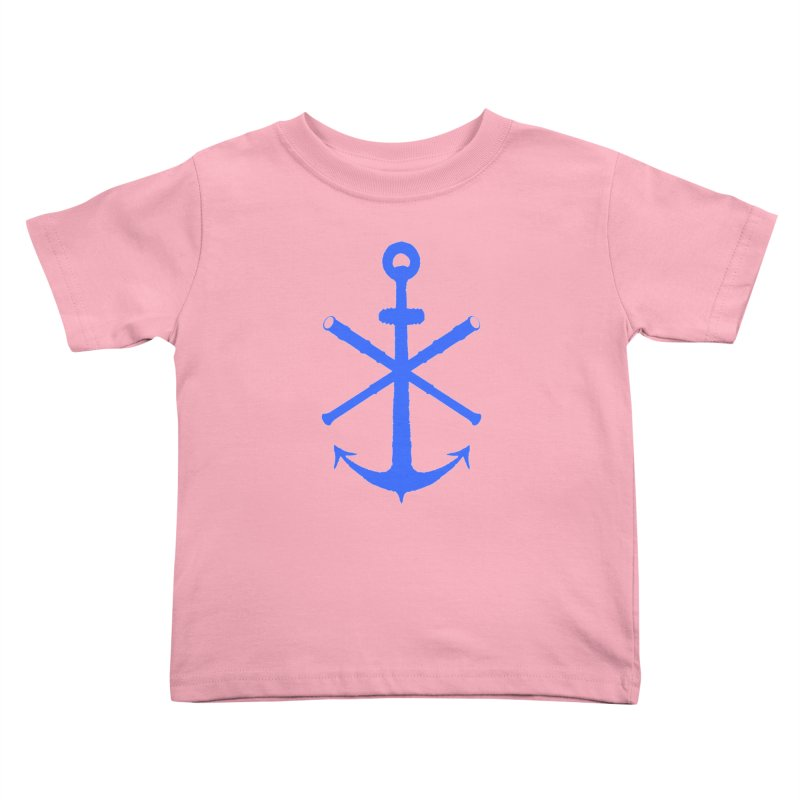 All Ways But Still Oversized Logo - Blue Kids Toddler T-Shirt by Sailor James