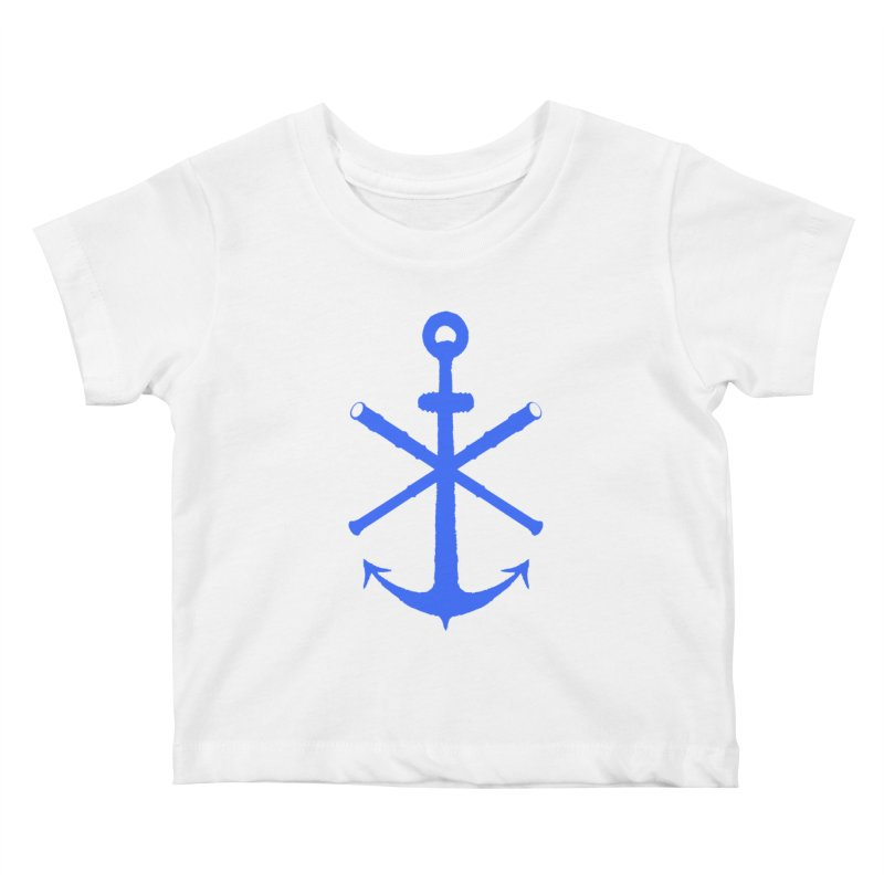 All Ways But Still Oversized Logo - Blue Kids Baby T-Shirt by Sailor James
