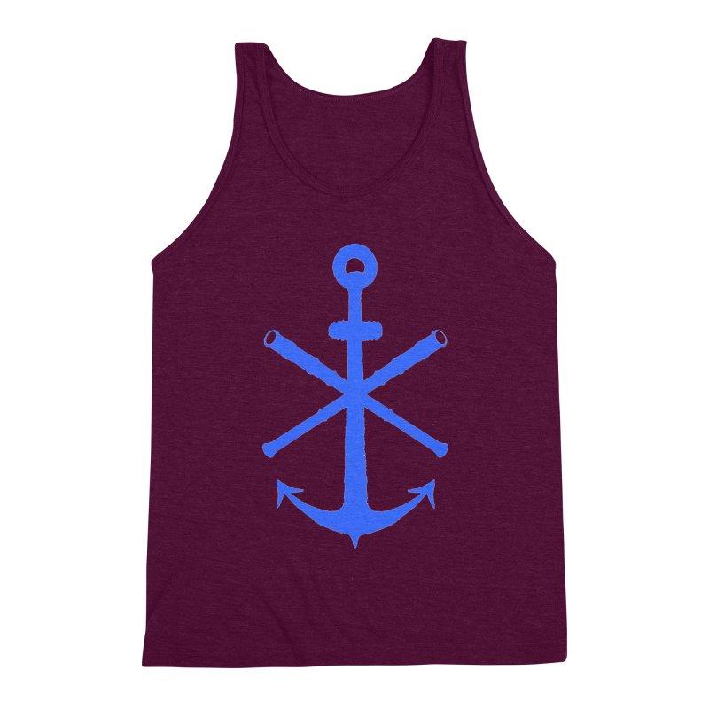 All Ways But Still Oversized Logo - Blue Men's Triblend Tank by Sailor James