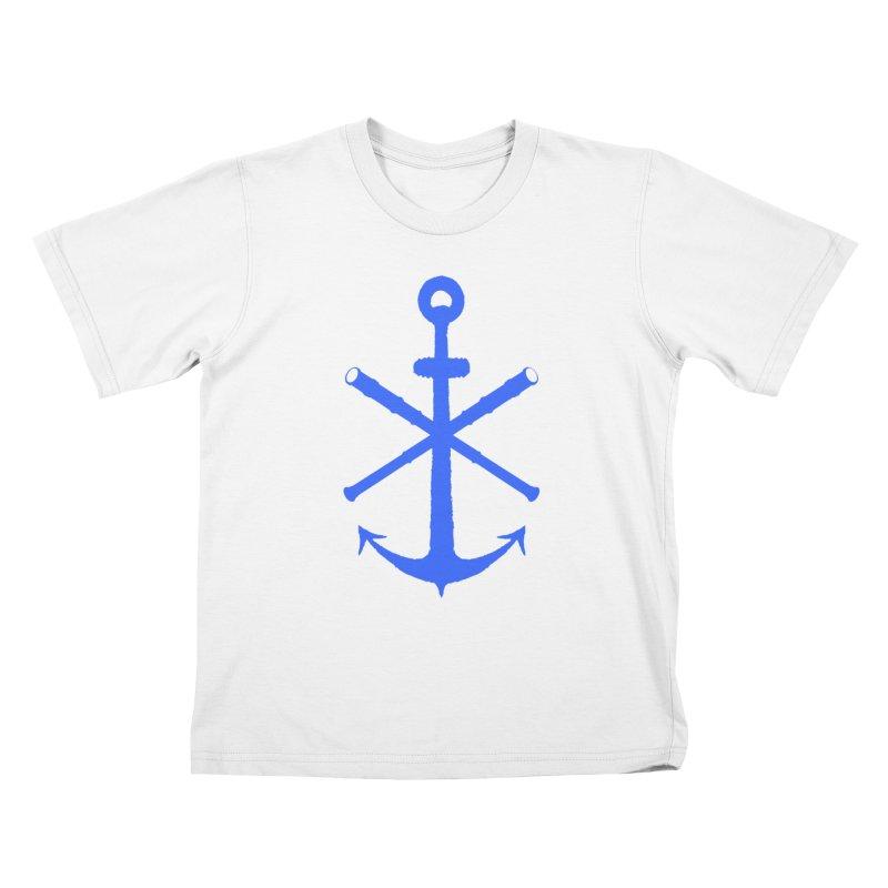 All Ways But Still Oversized Logo - Blue Kids T-Shirt by Sailor James