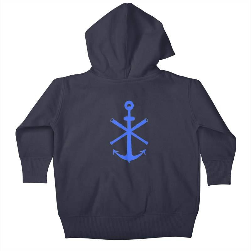 All Ways But Still Oversized Logo - Blue Kids Baby Zip-Up Hoody by Sailor James