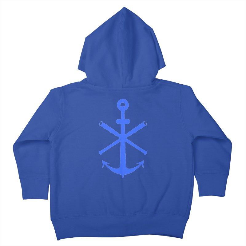 All Ways But Still Oversized Logo - Blue Kids Toddler Zip-Up Hoody by Sailor James