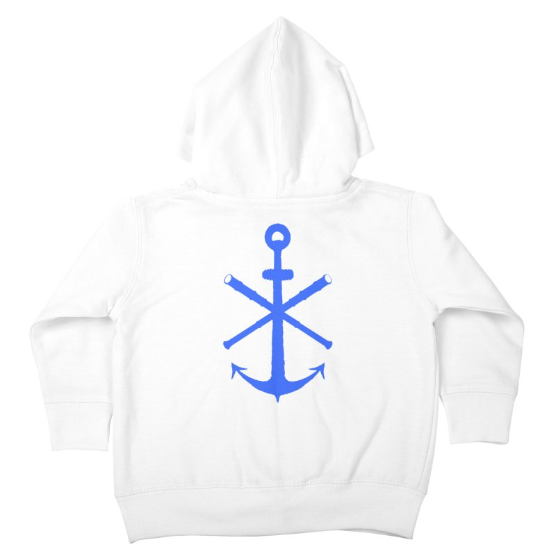 All Ways But Still Oversized Logo - Blue Kids Toddler Zip-Up Hoody by Sailor James
