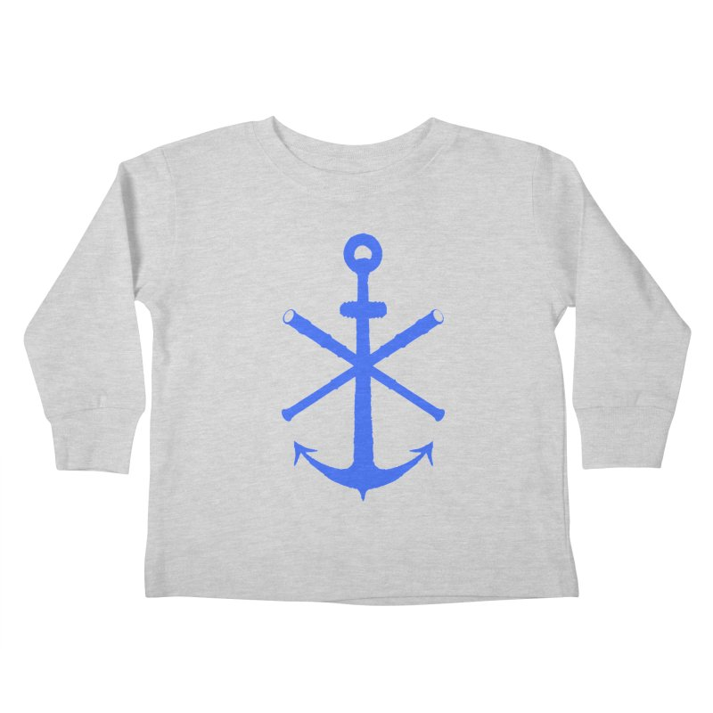 All Ways But Still Oversized Logo - Blue Kids Toddler Longsleeve T-Shirt by Sailor James