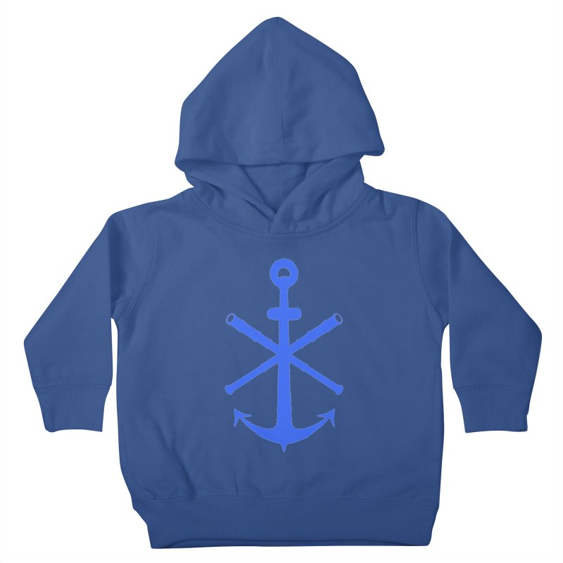 All Ways But Still Oversized Logo - Blue Kids Toddler Pullover Hoody by Sailor James
