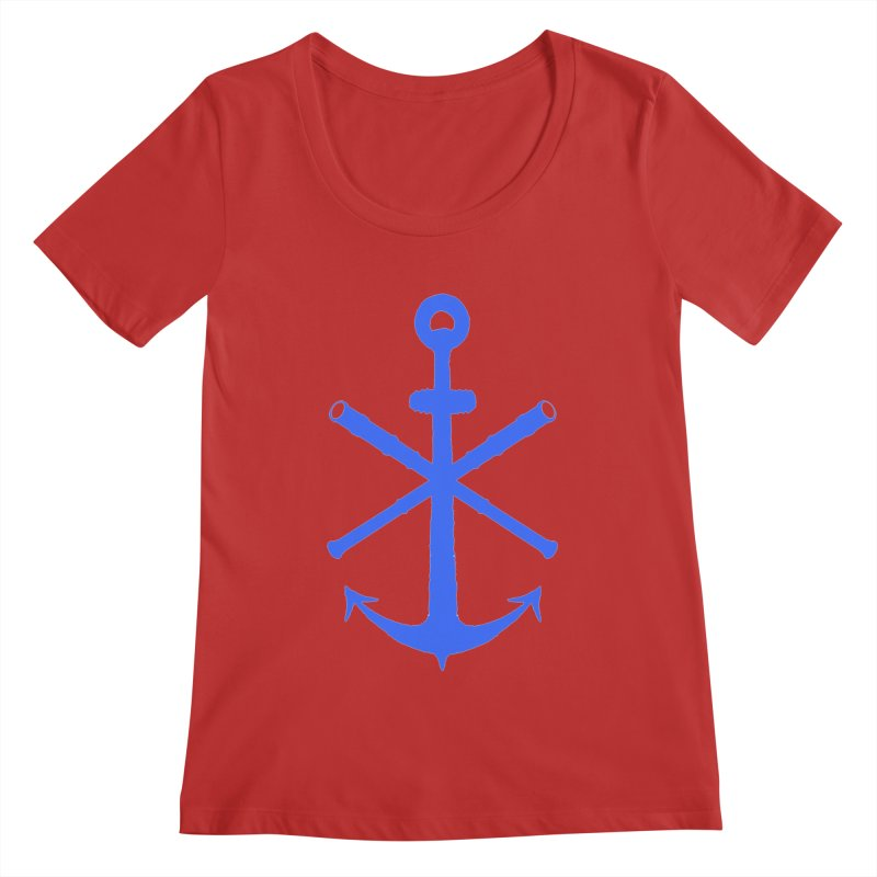 All Ways But Still Oversized Logo - Blue Women's Regular Scoop Neck by Sailor James