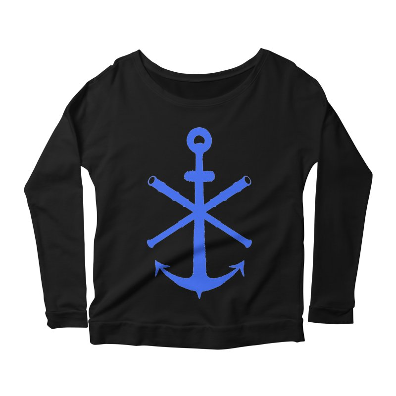 All Ways But Still Oversized Logo - Blue Women's Scoop Neck Longsleeve T-Shirt by Sailor James