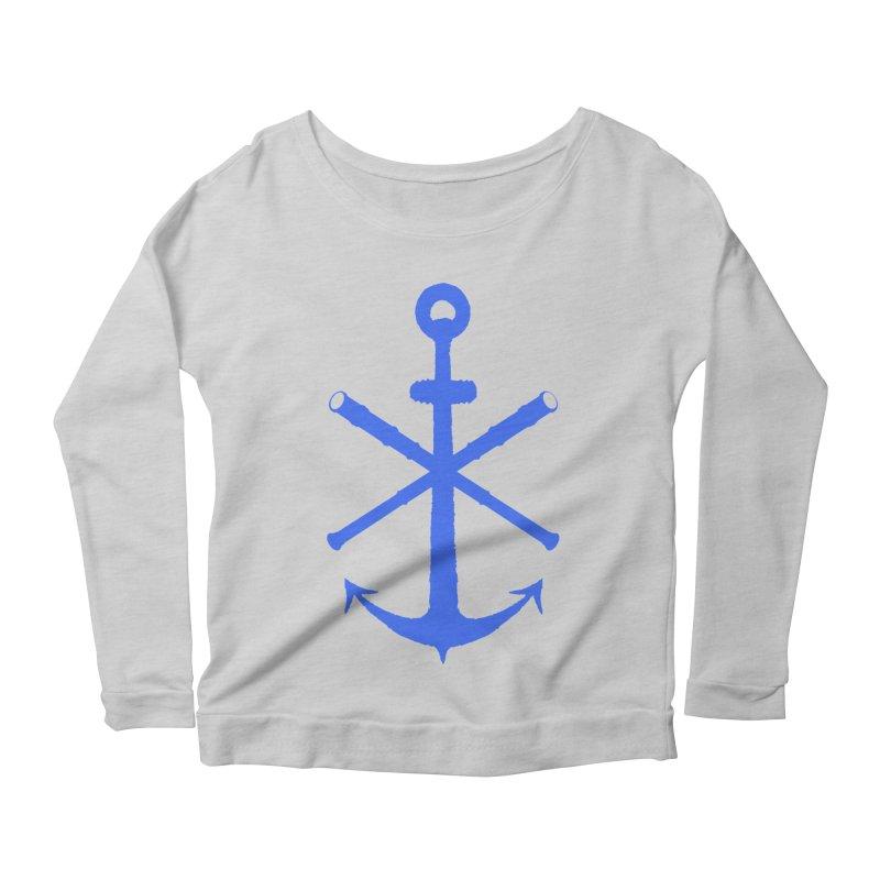 All Ways But Still Oversized Logo - Blue Women's Scoop Neck Longsleeve T-Shirt by Sailor James