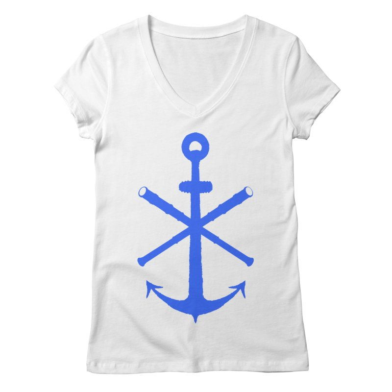 All Ways But Still Oversized Logo - Blue Women's Regular V-Neck by Sailor James