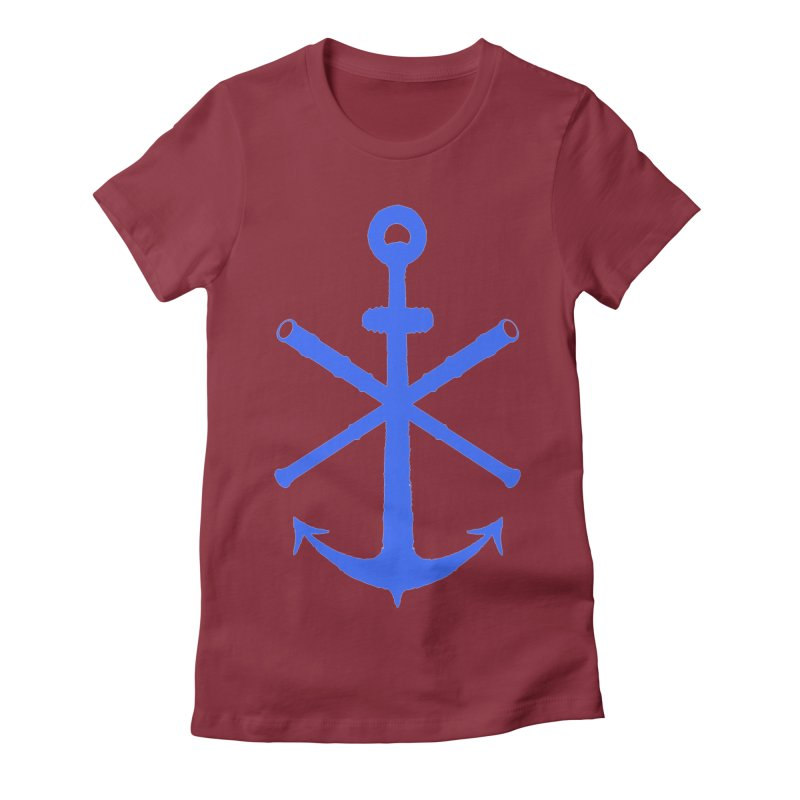 All Ways But Still Oversized Logo - Blue Women's Fitted T-Shirt by Sailor James