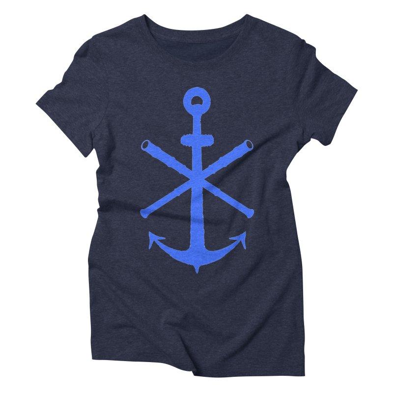 All Ways But Still Oversized Logo - Blue Women's Triblend T-Shirt by Sailor James