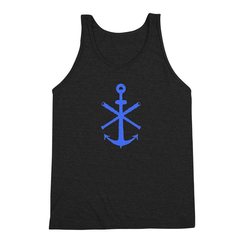 All Ways But Still Oversized Logo - Blue Men's Tank by Sailor James