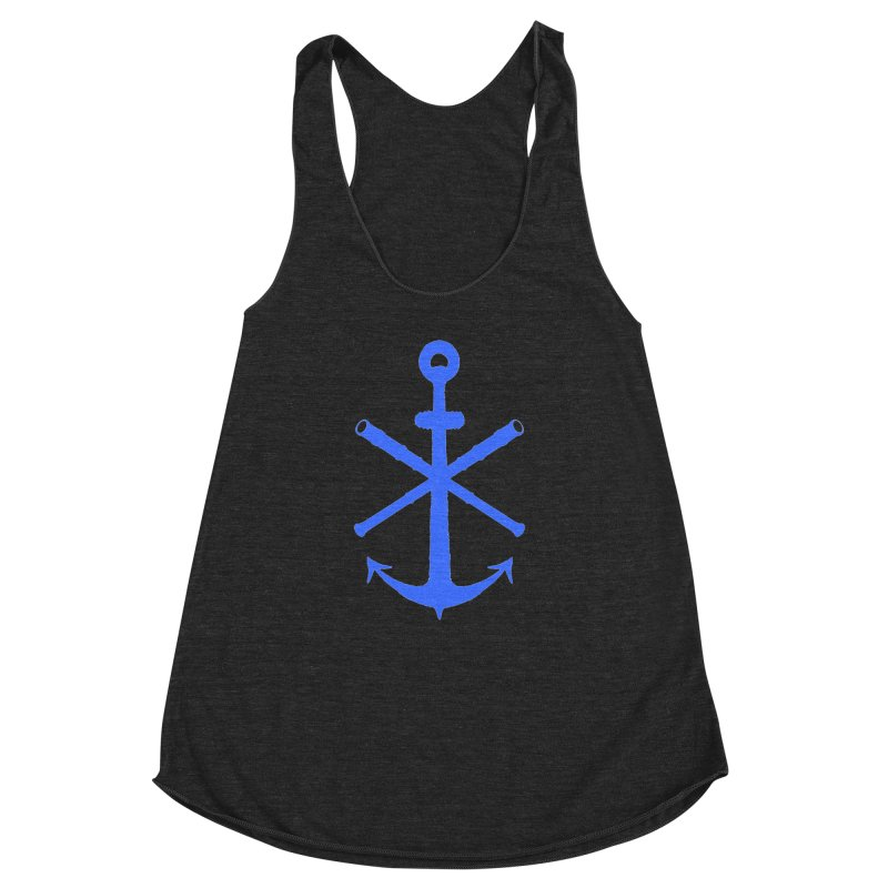 All Ways But Still Oversized Logo - Blue Women's Racerback Triblend Tank by Sailor James