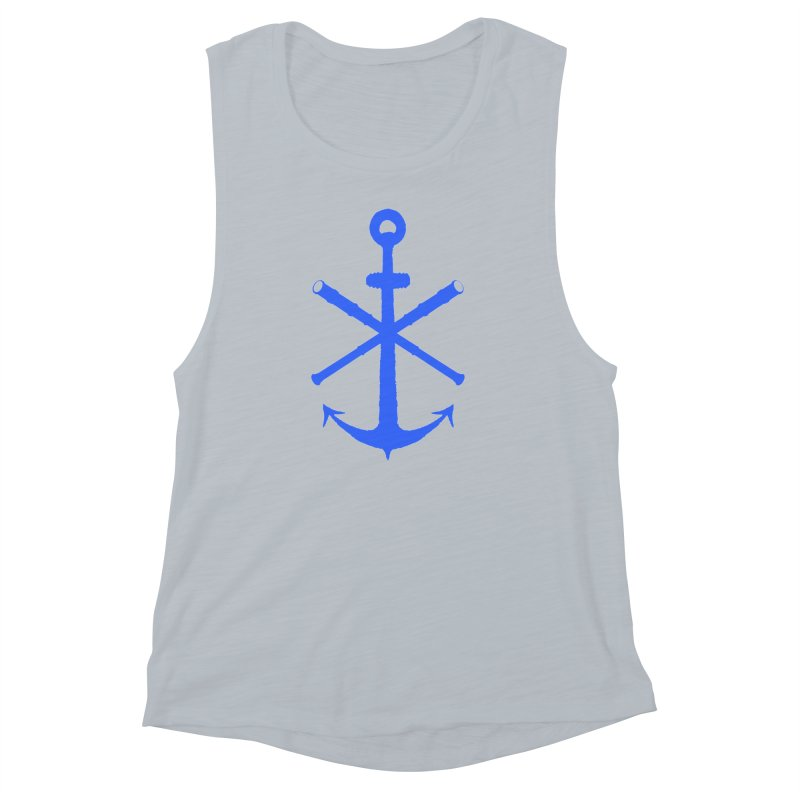 All Ways But Still Oversized Logo - Blue Women's Muscle Tank by Sailor James