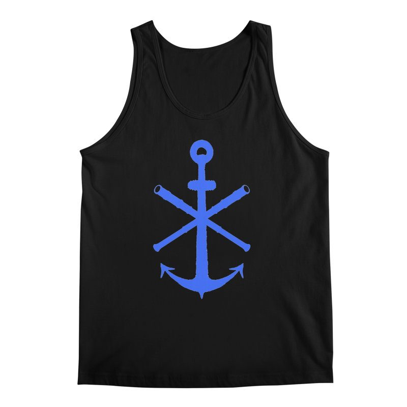 All Ways But Still Oversized Logo - Blue Men's Regular Tank by Sailor James