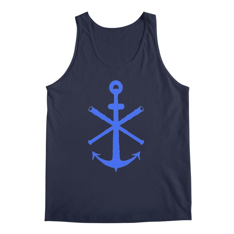 All Ways But Still Oversized Logo - Blue Men's Regular Tank by Sailor James