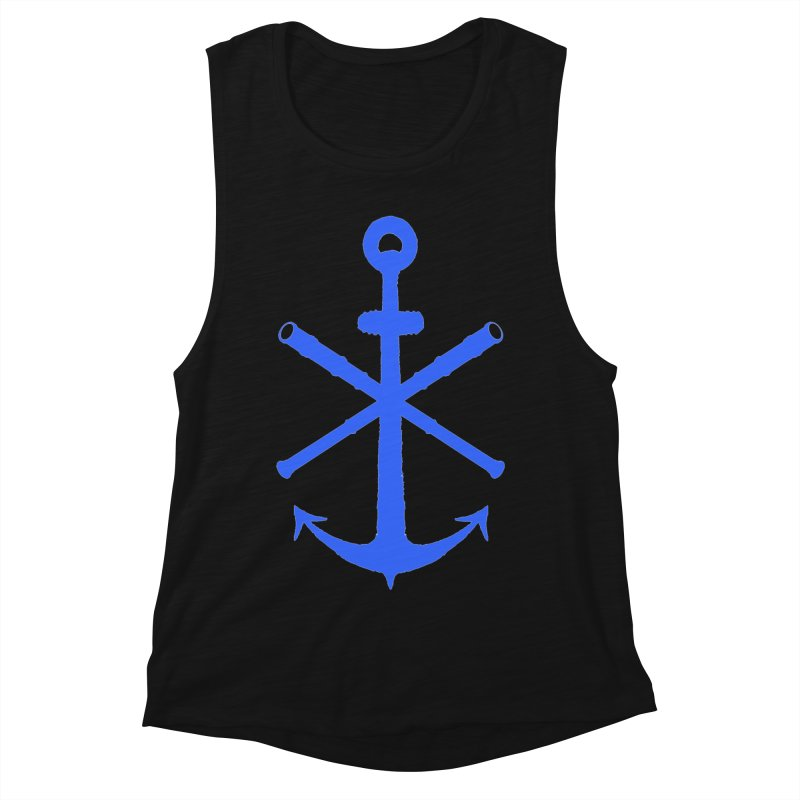 All Ways But Still Oversized Logo - Blue Women's Muscle Tank by Sailor James