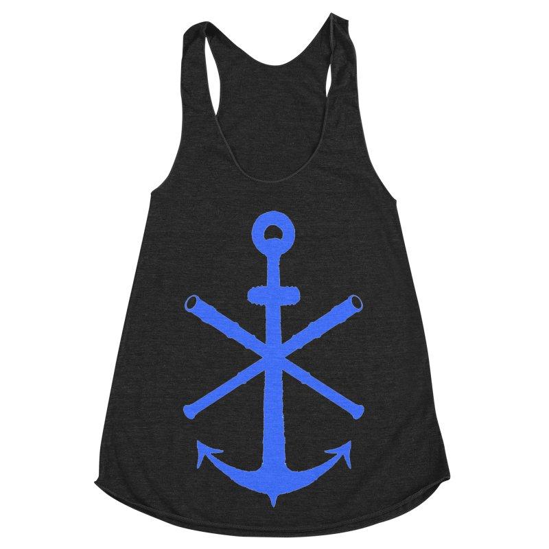 All Ways But Still Oversized Logo - Blue Women's Racerback Triblend Tank by Sailor James